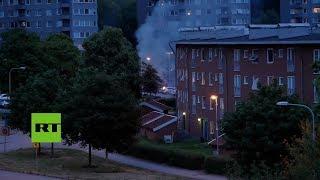 Suecia: 60 coches quemados en Gotemburgo por el ataque de pandilleros
