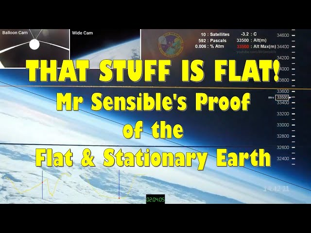 That Stuff is Flat!  Mr Sensible's Proof of the Flat & Stationary Earth