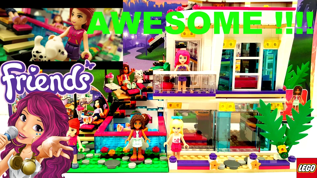 Lego Friends Livis Pop Star House Building Review 41135 Youtube