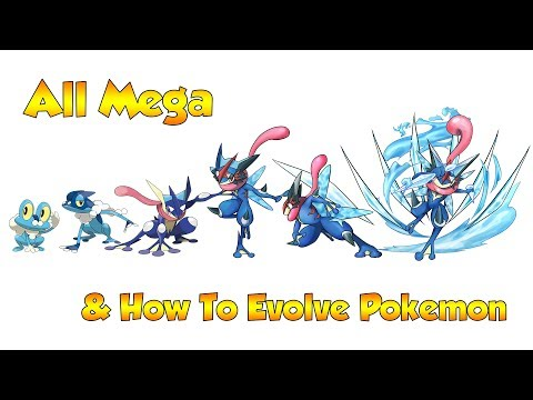 How To Evolve Pokémon - Generation 6 Kalos & Mega Evolutions (Animated Sprites)