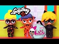 LOL Surprise Babies Turn into Miraculous Ladybug, Cat Noir ! Toys and Dolls Fun for Kids | SWTAD