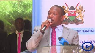 Governor Mike Sonko says Nairobi's water issues come from other Counties