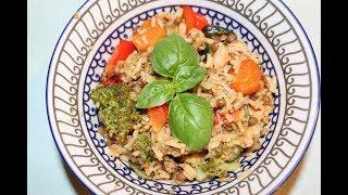 Рис, жаренный с овощами. Азиатский рецепт.