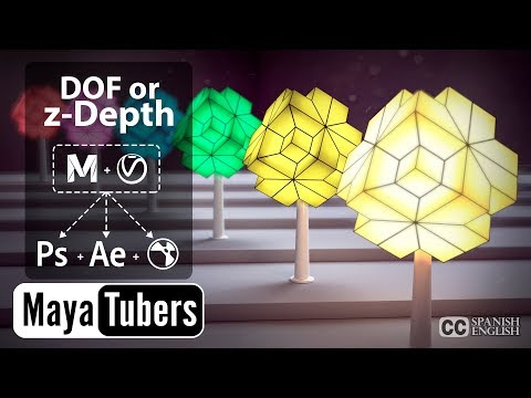 VRay y Maya Profundidad de Campo = DOF o zDepth en Nuke - Photoshop y After Effects - MayaTubers