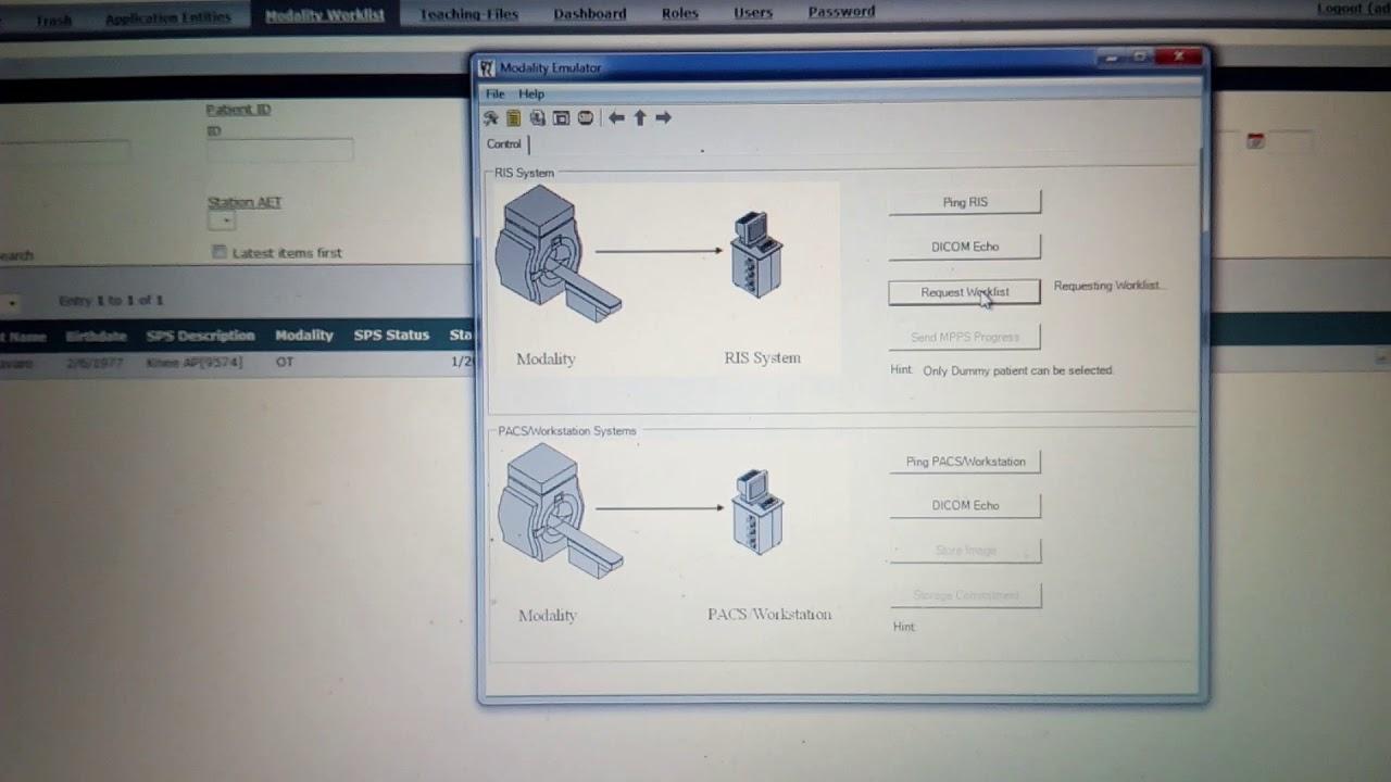 Bahmni DCM4CHEE Modality Emulator