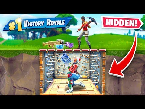 Underground *INVISIBLE* TRAP Trick In Fortnite Battle Royale!