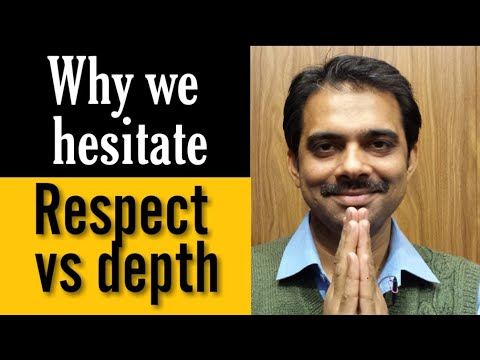 Respect Vs Depth|| Ashish Shukla from DEEP KNOWLEDGE