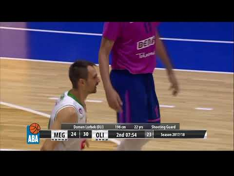 Domen Lorbek 100% from the 3-point line in first half (Mega Bemax - Petrol Olimpija, 15.10.2017)