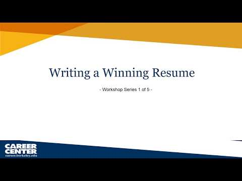 Resume And Cover Letter Writing Career Center