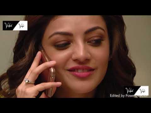 tamil actress kajal Agarwal latest hot lips and phone talk thumbnail