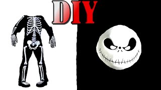 DIY Barbie Halloween Costume, Glow in the Dark Skeleton Costume - DIY - Halloween ideas for Dolls