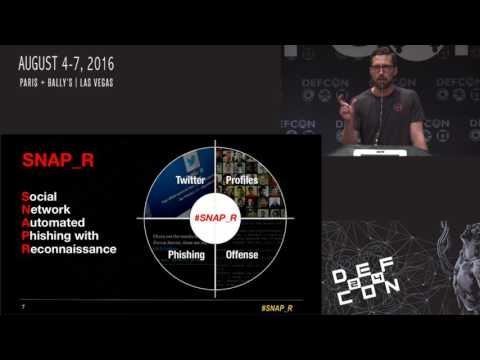 DEF CON 24 - Delta Zero, KingPhish3r - Weaponizing Data Science for Social Engineering