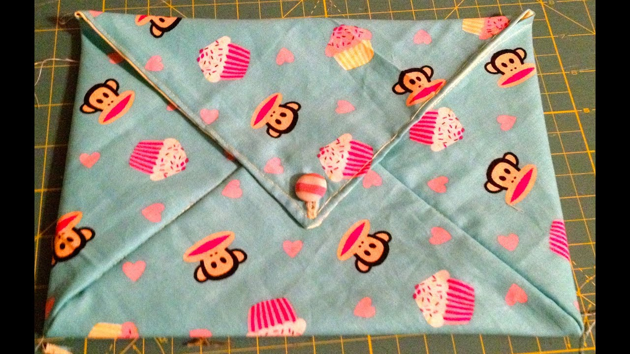 Diy homemade fabric envelope bag youtube solutioingenieria Images