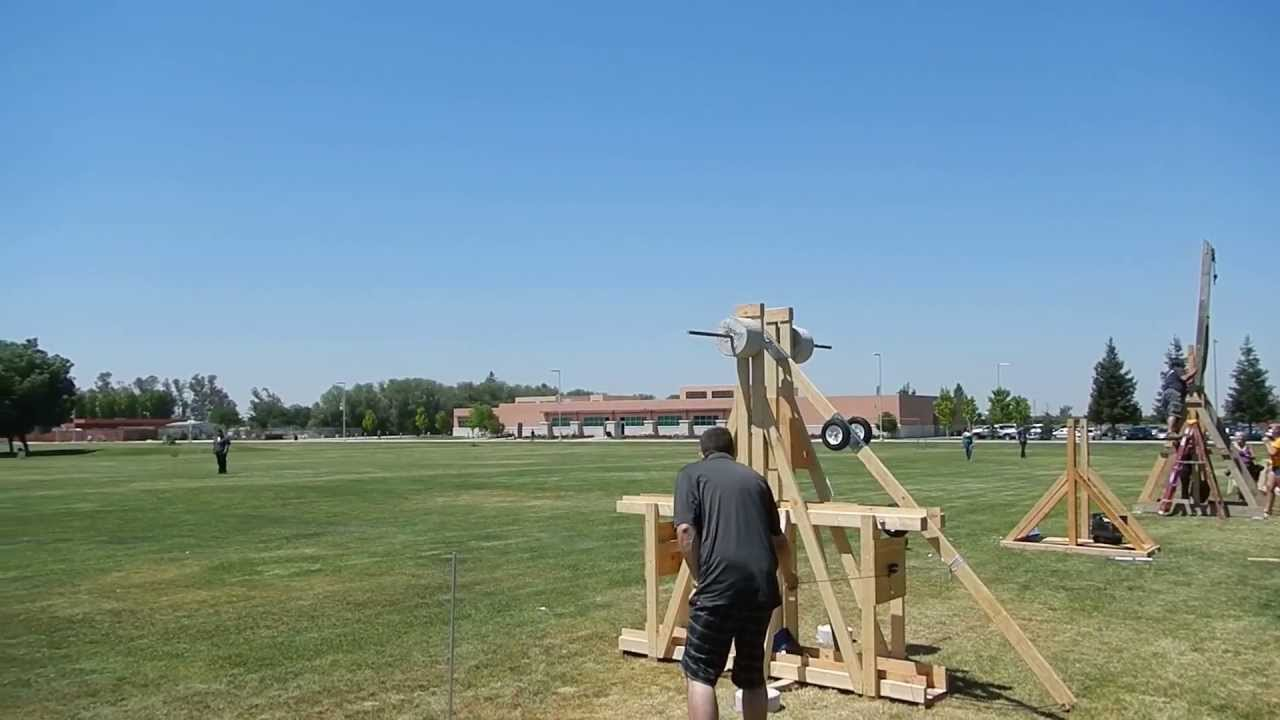 how to build a floating arm trebuchet