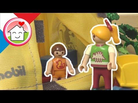 Playmobil en français Camping dans le jardin - La famille Hauser / film pour enfants