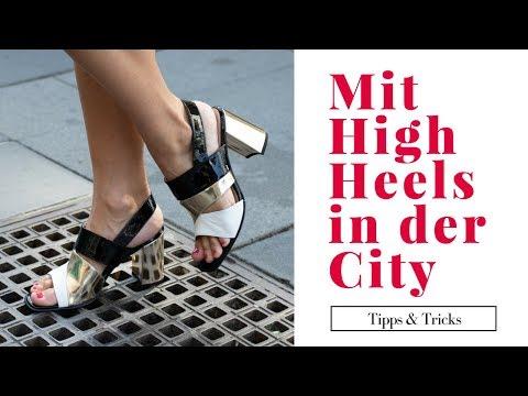High Heels 5 Tipps, um auf hohen Schuhen laufen zu lernen