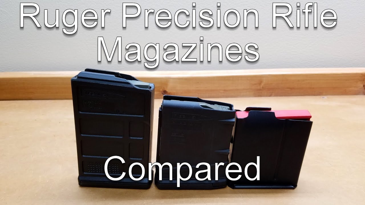 Ruger Precision Rifle Magazines Compared