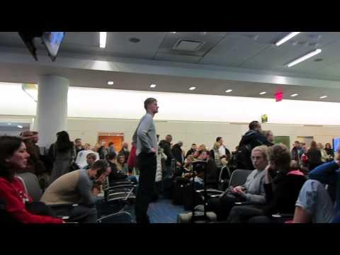 Singing at Dublin Airport   Part 1   Republic of Ireland   December 2014