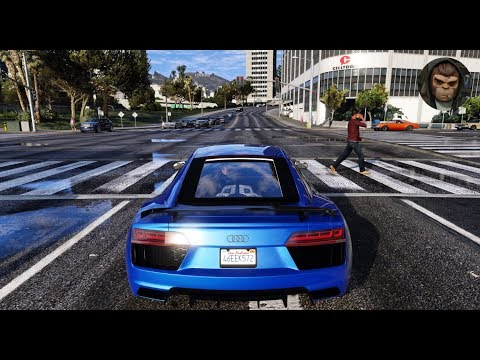► GTA 6 Graphics - Audi R8 V10 Plus ✪ M.V.G.A. - Gameplay! 2017 Realistic Graphics MOD 60FPS