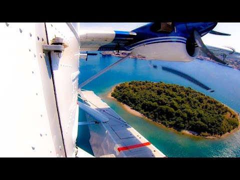 Great views from Seaplane out of Pula Harbor, Croatia!