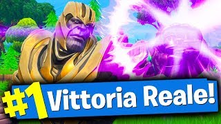 Fortnite ITA - COME VINCERE CON THANOS TUTTI I GAME (4 WIN)