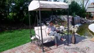 Coral Coast Two Person Gazebo Swing With Side Tables - Product Review Video