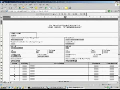 Jevs Ohio Home Choice Payment Request Form Training Video  Youtube