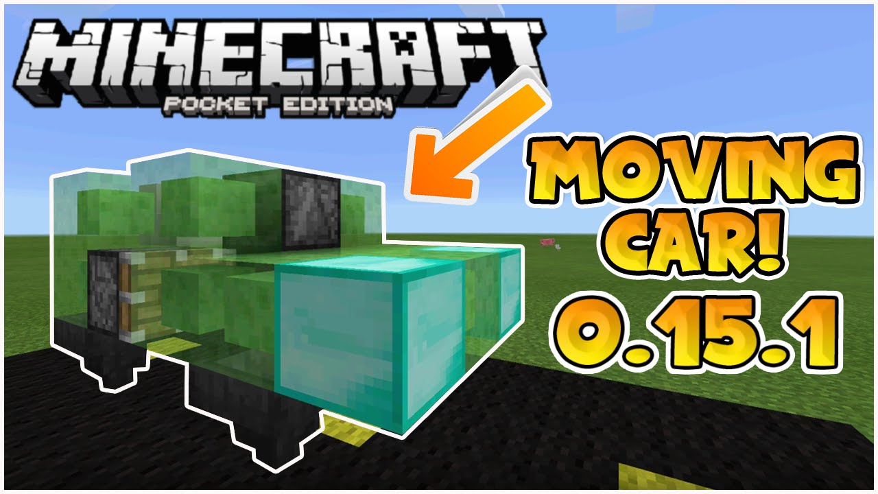 MOVING SLIME BLOCK CARS in MCPE!! // 0 15 1 Easy Tutorial - Minecraft PE  (Pocket Edition)