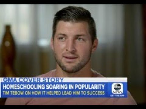 """HOMESCHOOLING """"SOARING IN POPULARITY"""": TIM TEBOW HELPS EXPLAIN WHY"""