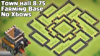 Town Hall 8.75 Farming Base [TH 9 No Xbow] 2015