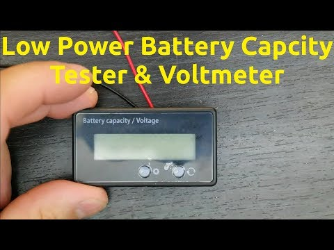 Battery Capacity Monitor LCD Display Voltage Meter with Connecting Cable Universal Battery Capacity Voltage Meter Tester Voltmeter Monitor