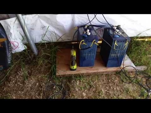 Easy DIY Simple Solar System Setup - Solar Powered Led Shop Lights - Off Grid System