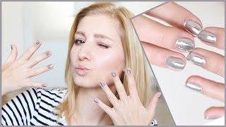 Jak na stříbrné zrcadlové nehty?