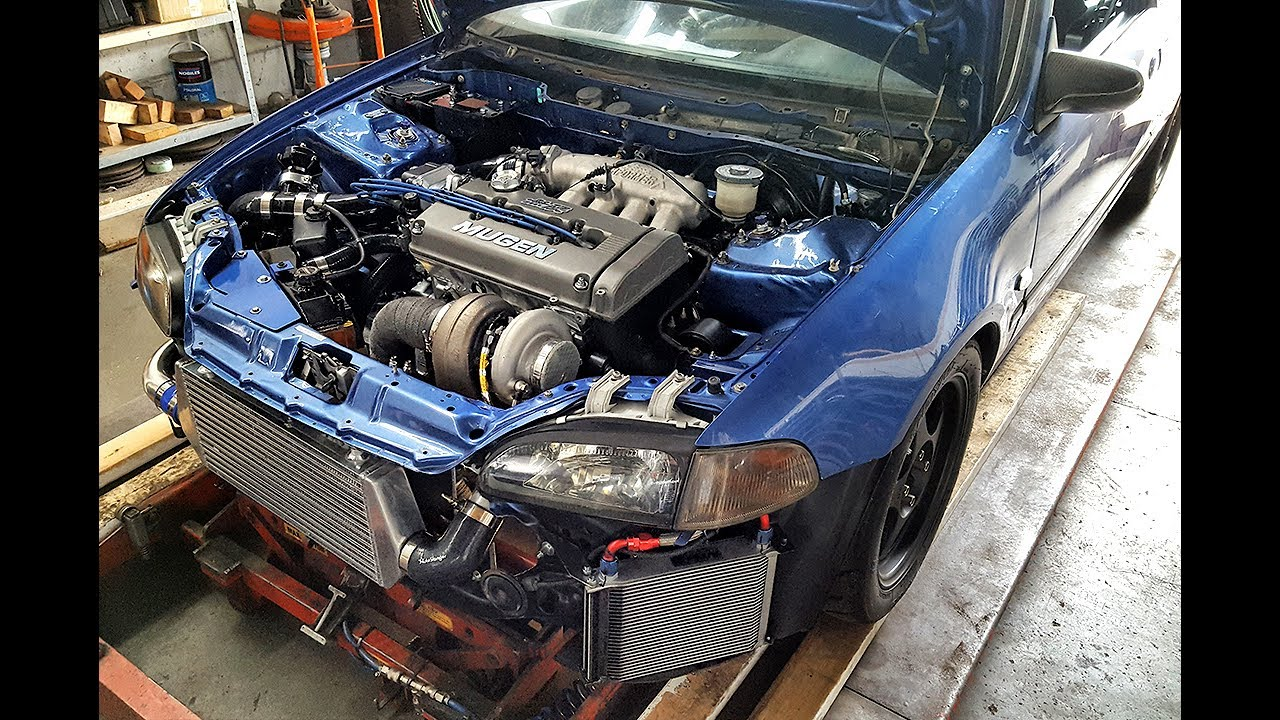 B20vtec Turbo 463hp dyno