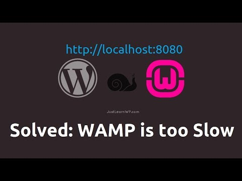 Solved: WAMP is too slow on localhost WordPress