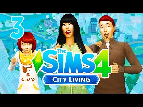 Let's Play The Sims 4 City Living [Part 3] Apartment Warming Party