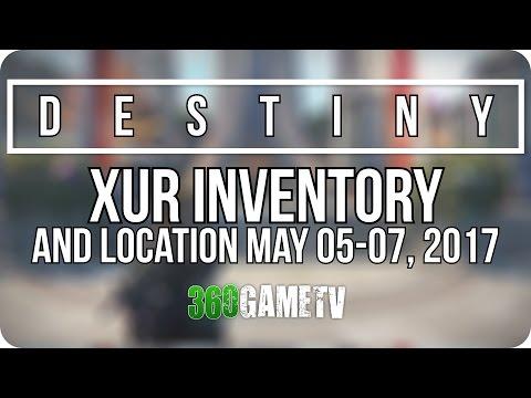 Destiny Xur 05-05-17 / Xur Location May 05, 2017 - Inventory / Items Week 139