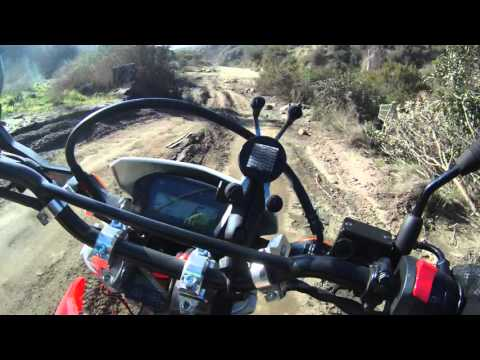 KLR650 CRF250L Dual Sport Orange County - On the way out