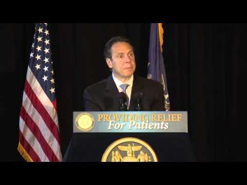 Gov. Andrew Cuomo delivers remarks after signing a bill to establish a medical marijuana program for New York State.