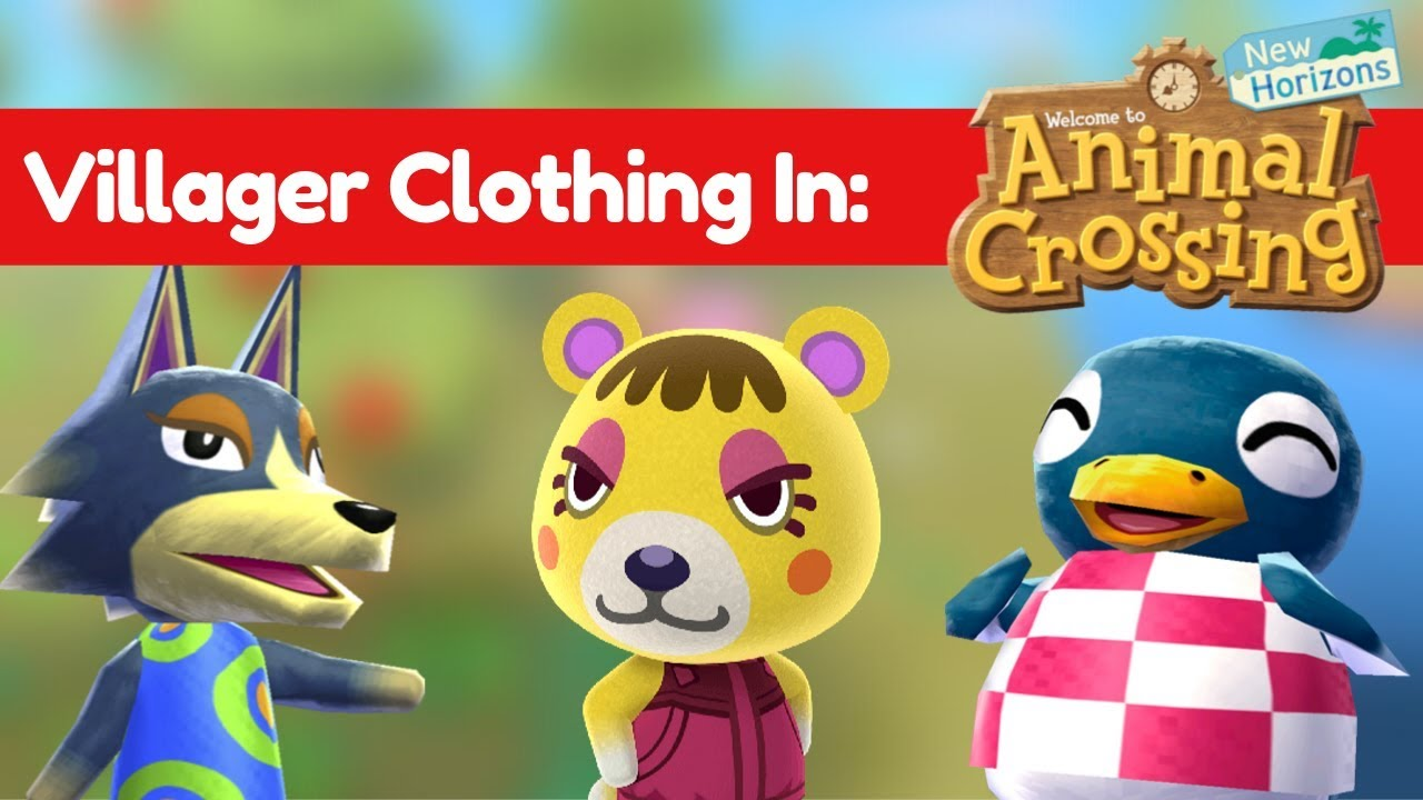 Villager Clothing In Animal Crossing New Horizons Youtube