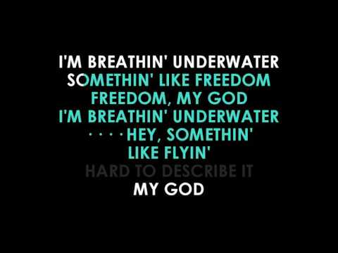 Emili Sande Breathing Underwater lyrics Karaoke (guide vocals)