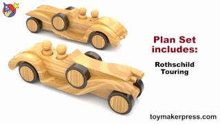 Wood Toy Plans - Roaring Twenties Hot Rod Cars