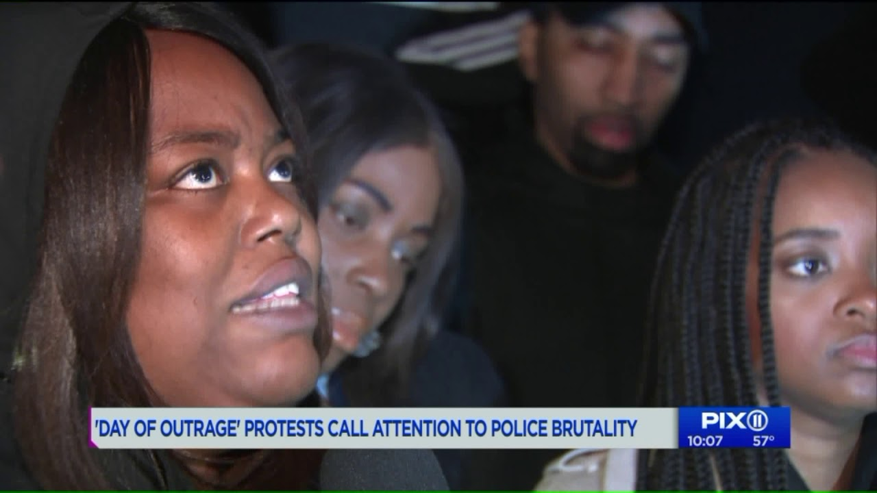 National Day of Outrage Protest about Police Brutality  takes place in NYC and other cities..