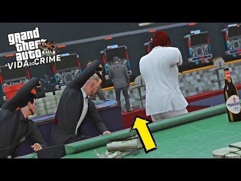 GTA V : VIDA DO CRIME | RD & TJ ME AJUDARAM EM UMA MISSÃO ARRISCADA NO CASINO | EP#12