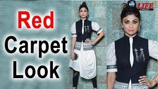 Shilpa Shetty Red Carpet Of 'Dadasaheb Phalke Award' 2018 Look... | Shilpa Royal Look |