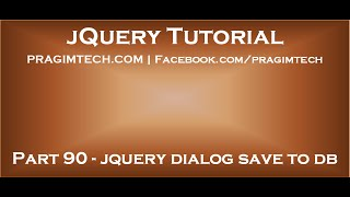 jQuery Dialog Save to Database