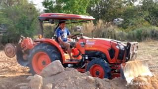 รถไถ รถแทรกเตอร์ ดันดิน ปรับดิน ปรับพื้นที่ คูโบต้า TRACTOR KUBOTA