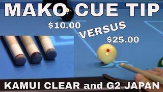Pool Cue Tip comparison