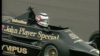 Nigel Mansell tries Senna's Lotus 98T and a Lotus 79 at Silverstone