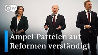 Ein Neuanfang? SPD, Grüne und FDP legen Positionspapier vor | DW Nachrichten